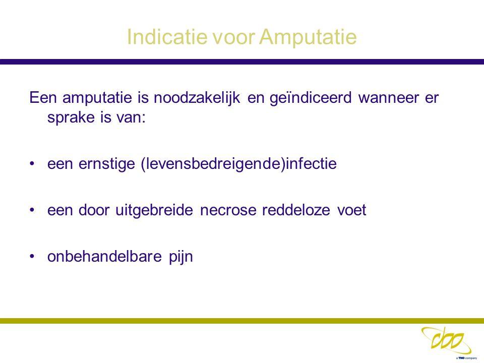 Indicatie voor Amputatie
