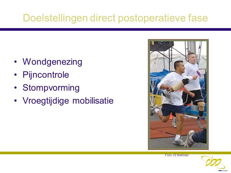 Doelstellingen direct postoperatieve fase