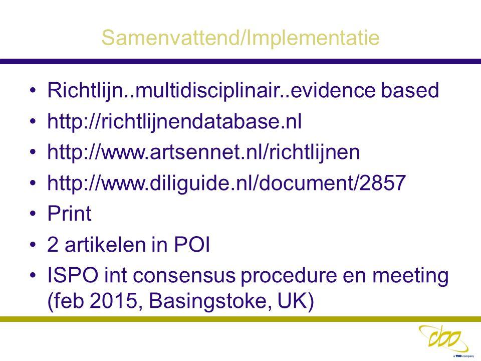 Samenvattend/Implementatie