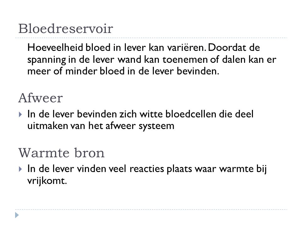 Bloedreservoir Afweer Warmte bron