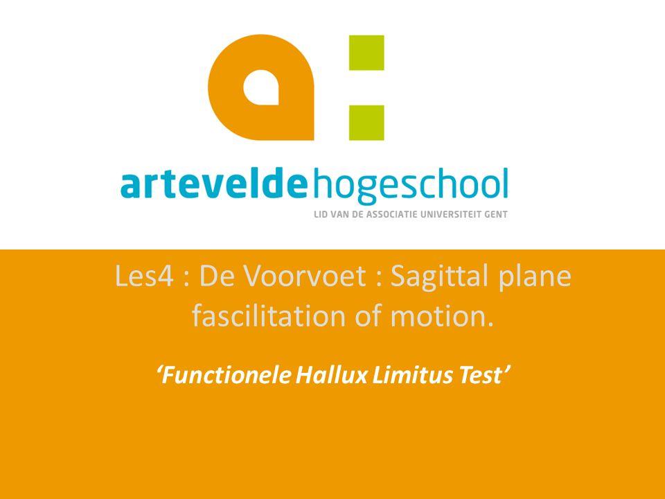 'Functionele Hallux Limitus Test'