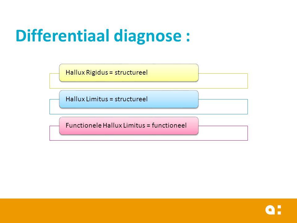 Differentiaal diagnose :