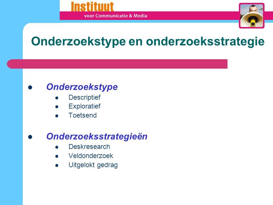 Onderzoekstype en onderzoeksstrategie