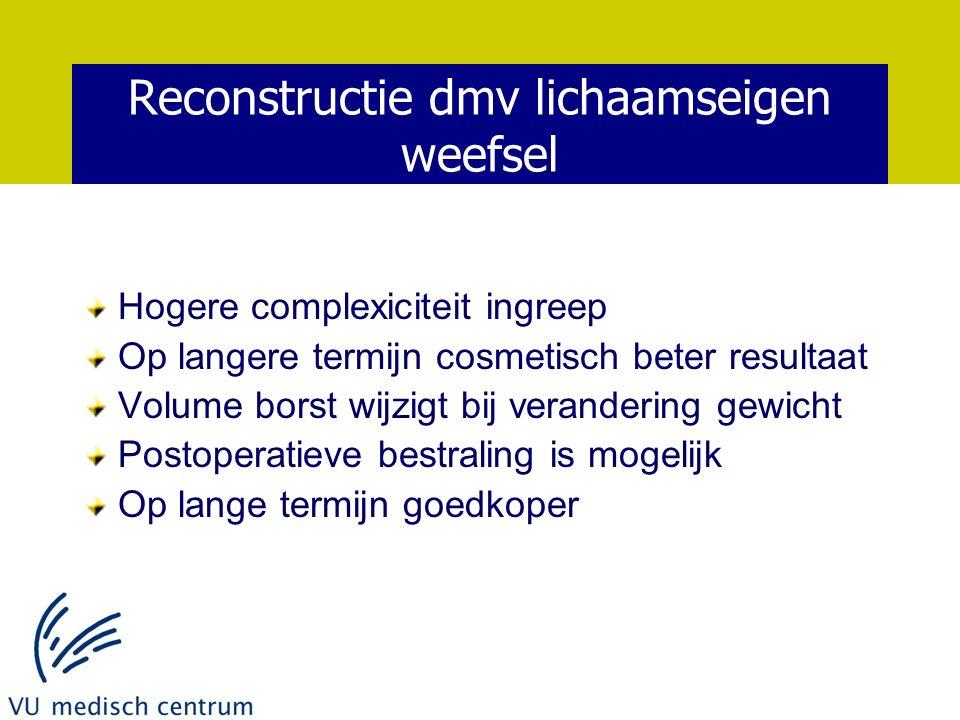 Reconstructie dmv lichaamseigen weefsel
