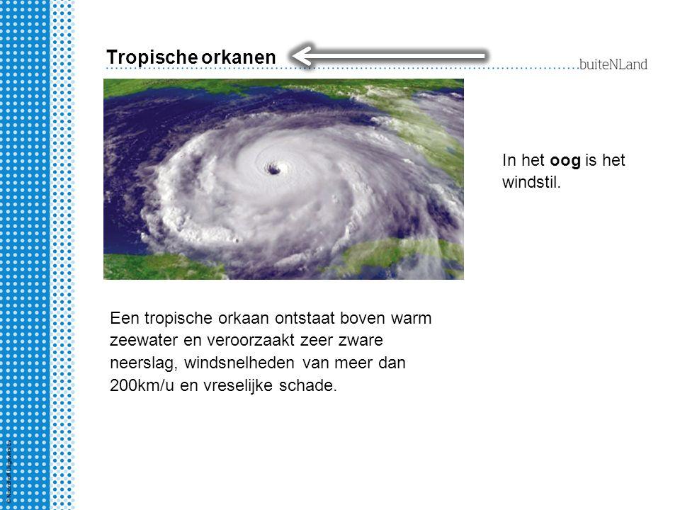Tropische orkanen In het oog is het windstil.