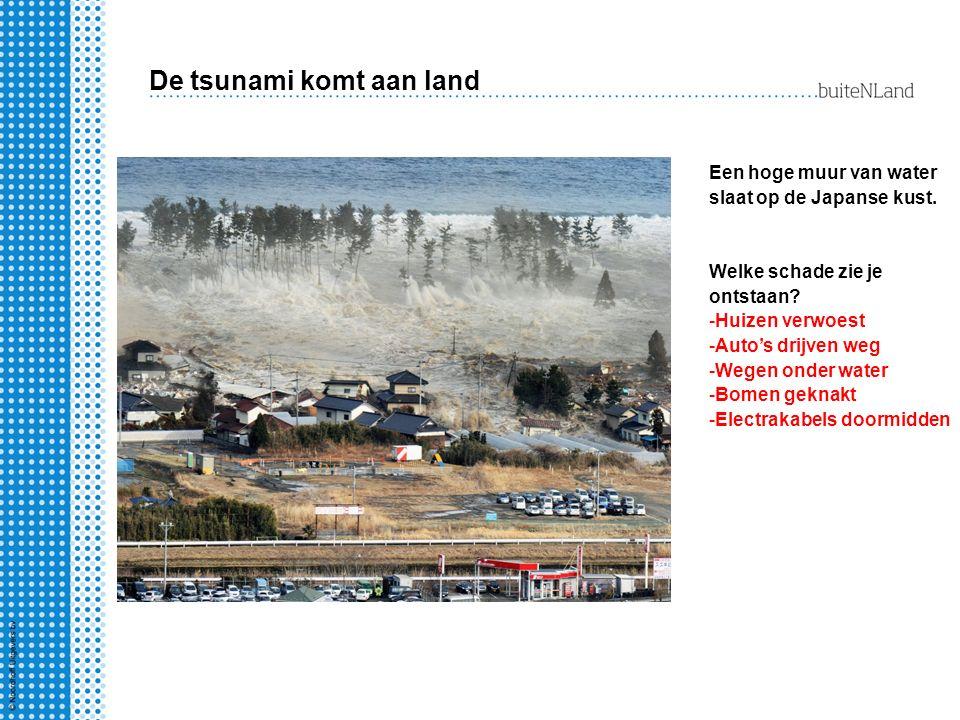 De tsunami komt aan land