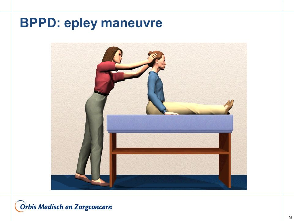 BPPD: epley maneuvre M
