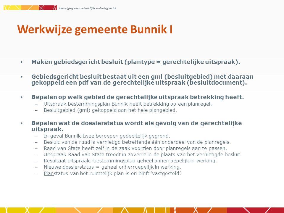Werkwijze gemeente Bunnik I