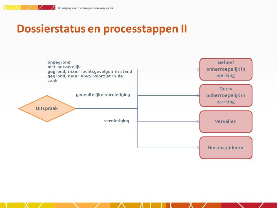 Dossierstatus en processtappen II