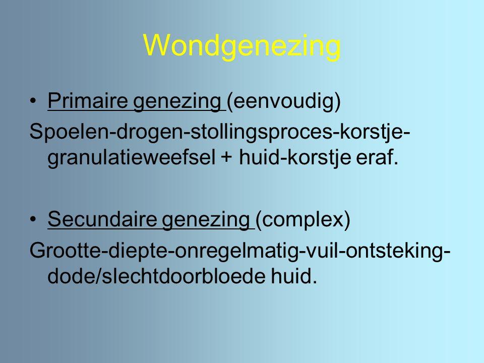 Wondgenezing Primaire genezing (eenvoudig)