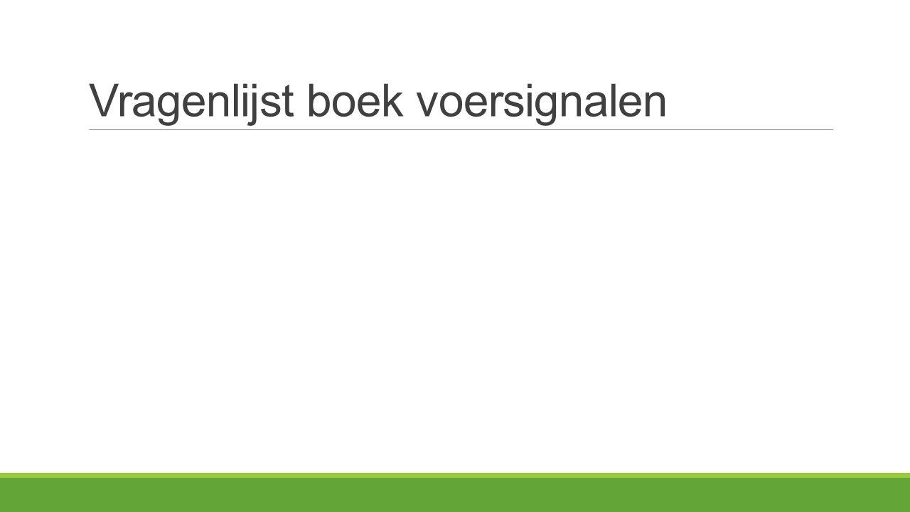 Vragenlijst boek voersignalen