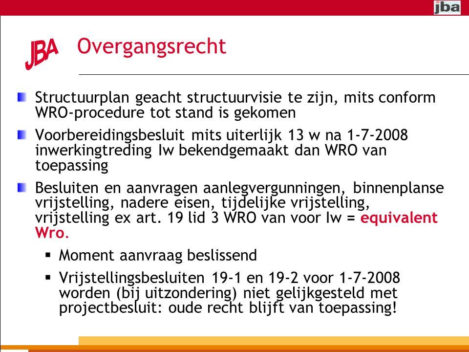 Overgangsrecht Structuurplan geacht structuurvisie te zijn, mits conform WRO-procedure tot stand is gekomen.