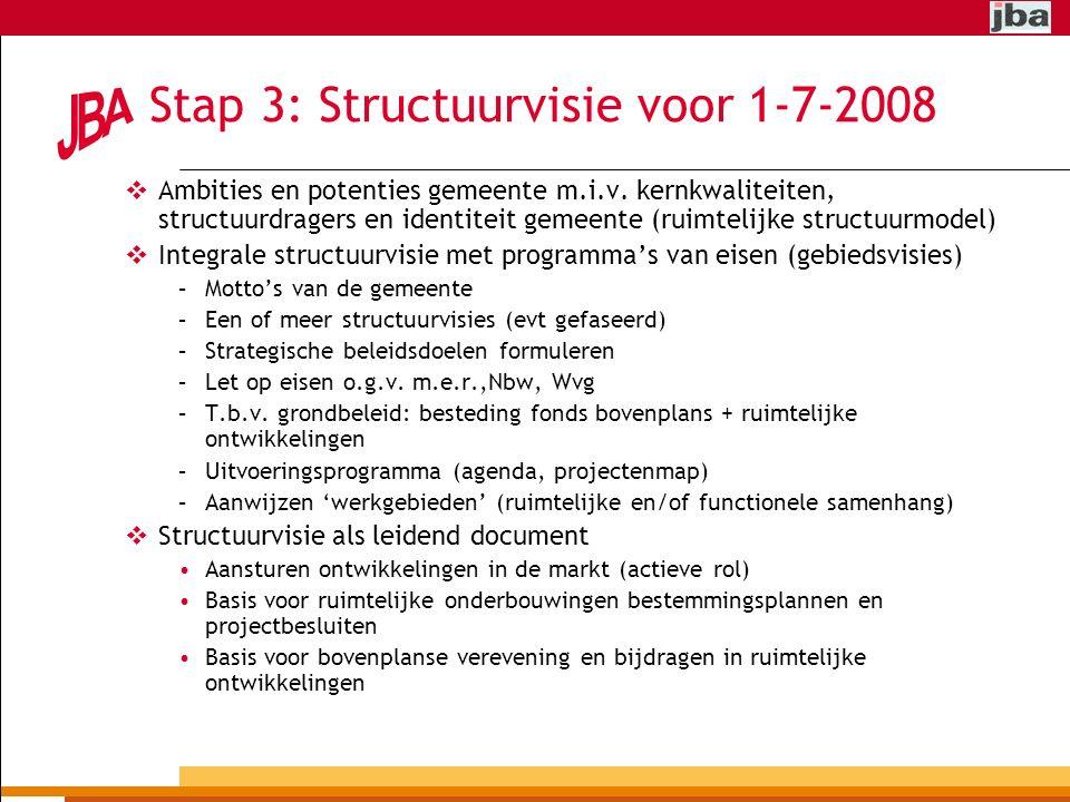 Stap 3: Structuurvisie voor 1-7-2008