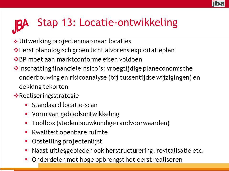 Stap 13: Locatie-ontwikkeling