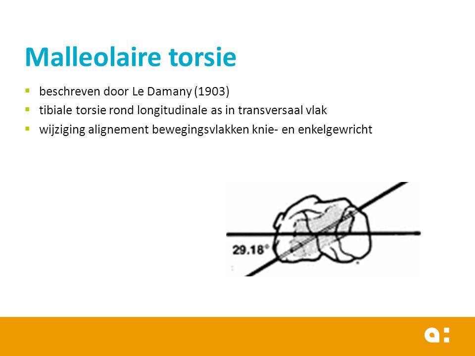 Malleolaire torsie beschreven door Le Damany (1903)
