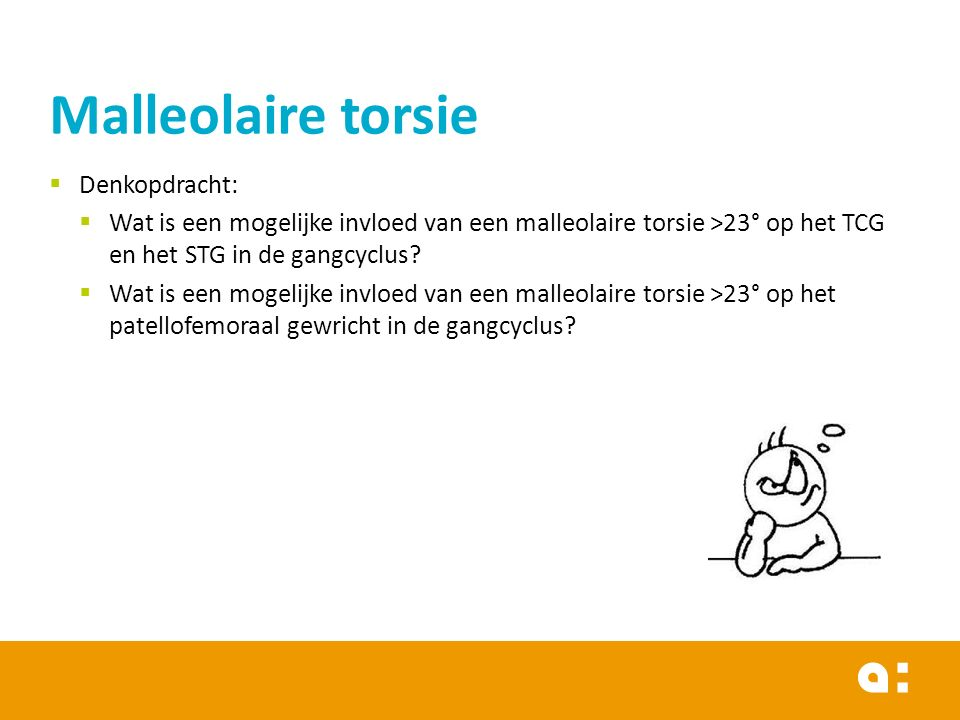 Malleolaire torsie Denkopdracht: