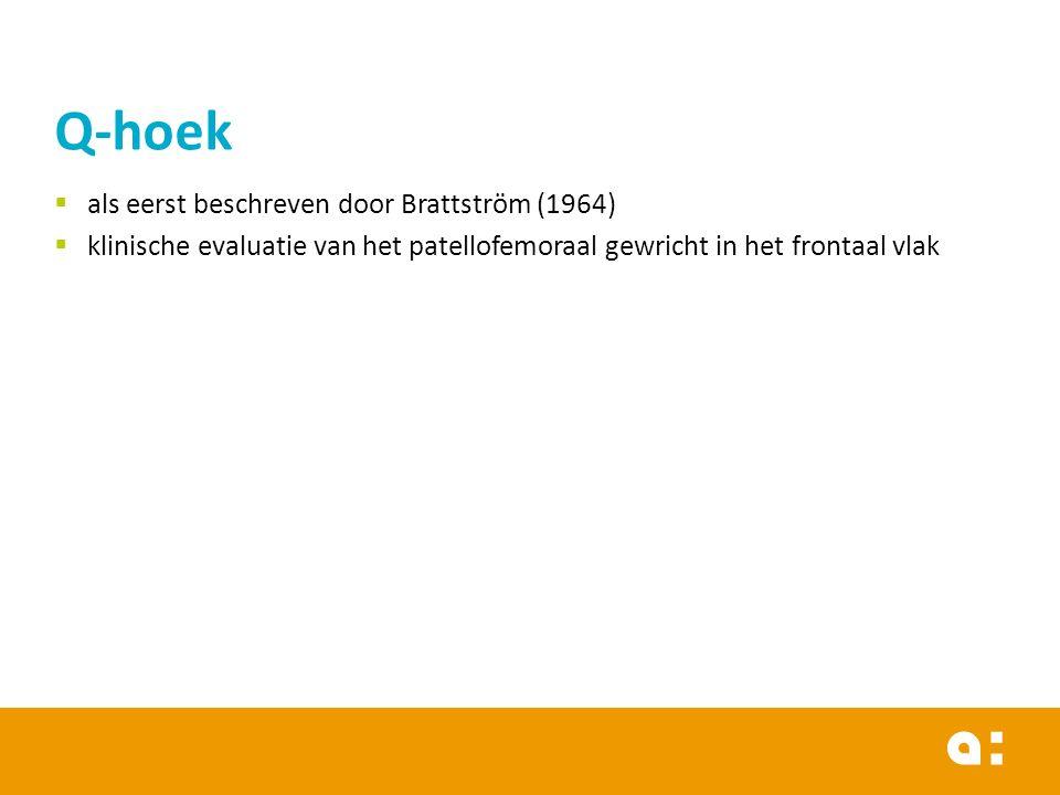 Q-hoek als eerst beschreven door Brattström (1964)