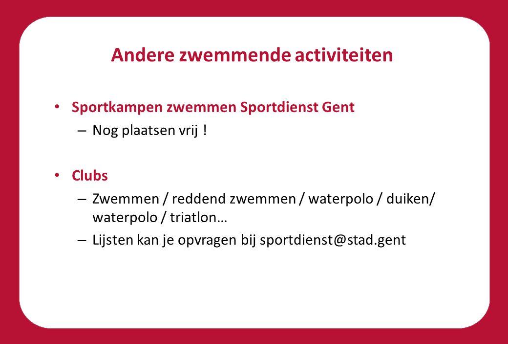 Andere zwemmende activiteiten