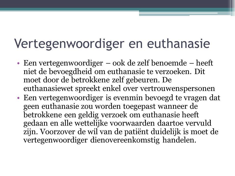 Vertegenwoordiger en euthanasie