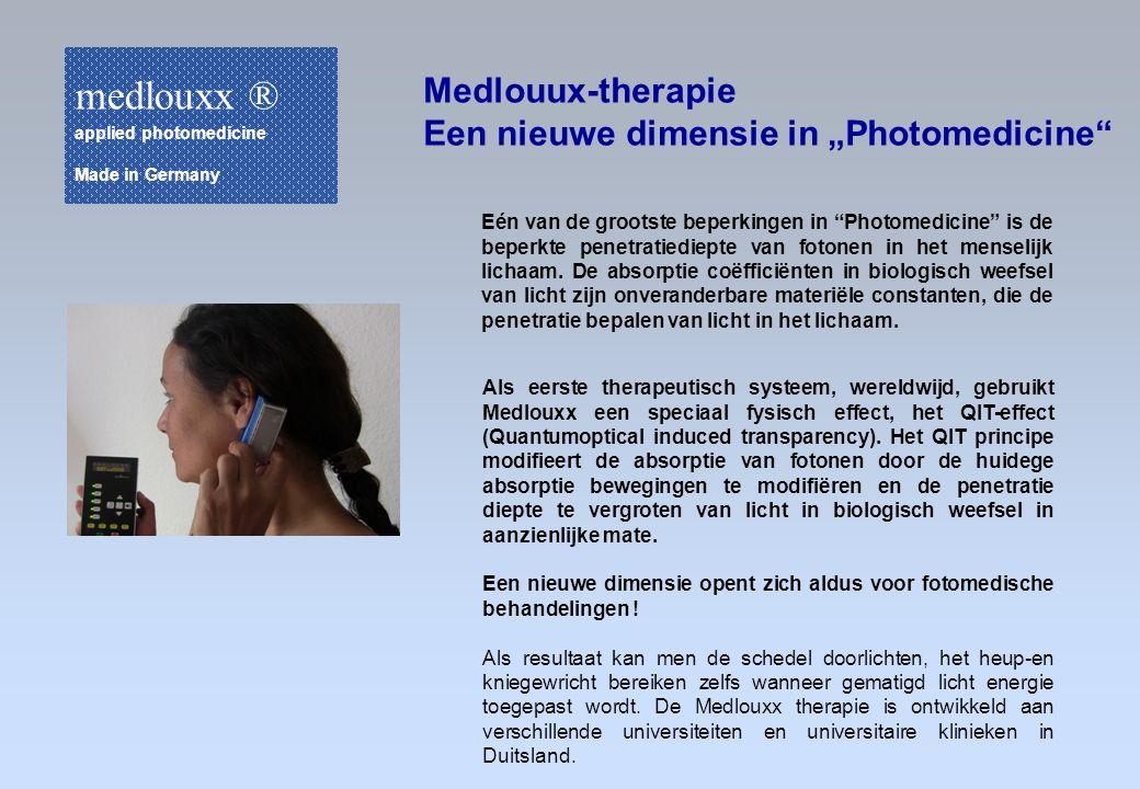 """medlouxx ® Medlouux-therapie Een nieuwe dimensie in """"Photomedicine"""