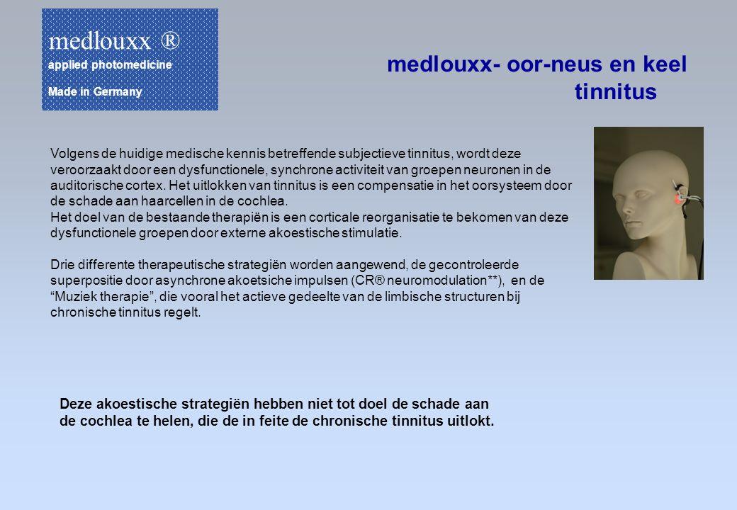 medlouxx ® medlouxx- oor-neus en keel tinnitus
