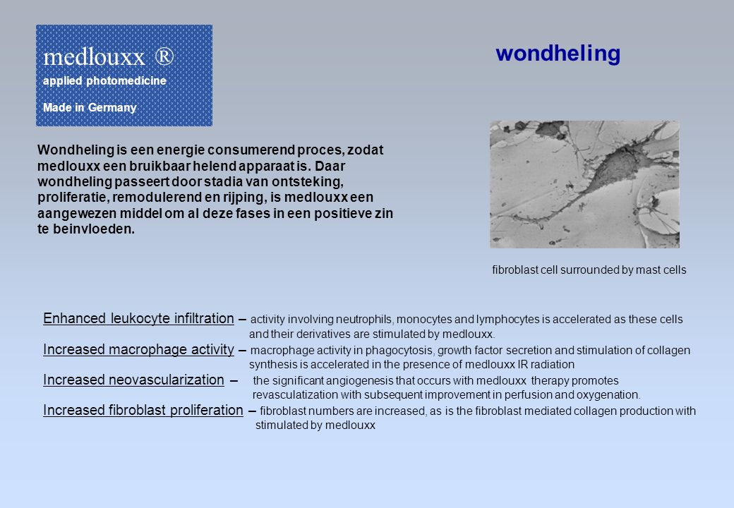 medlouxx ® applied photomedicine. Made in Germany. wondheling.