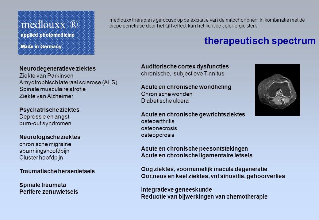 medlouxx ® therapeutisch spectrum Auditorische cortex dysfuncties