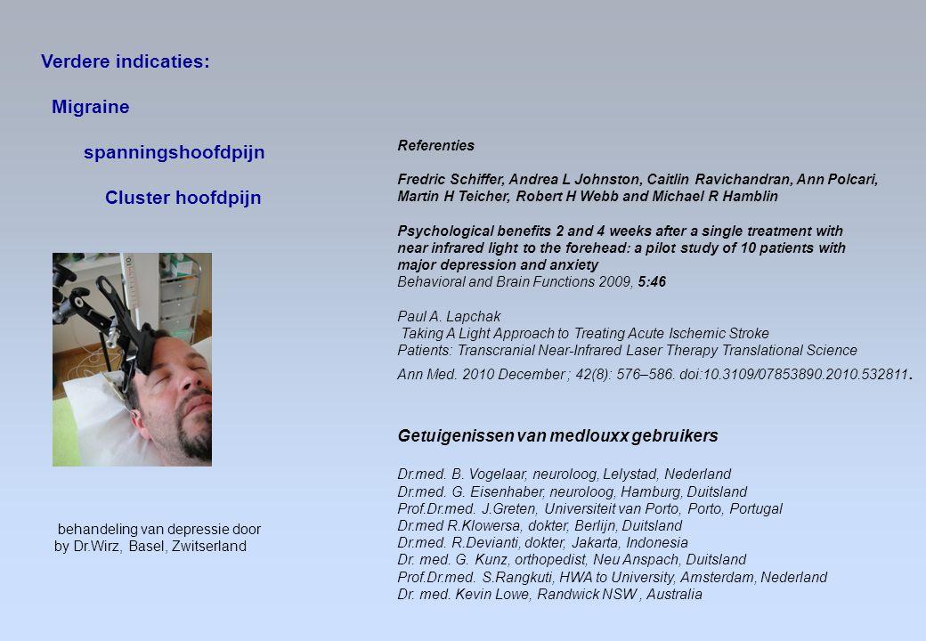 Verdere indicaties: Migraine spanningshoofdpijn Cluster hoofdpijn