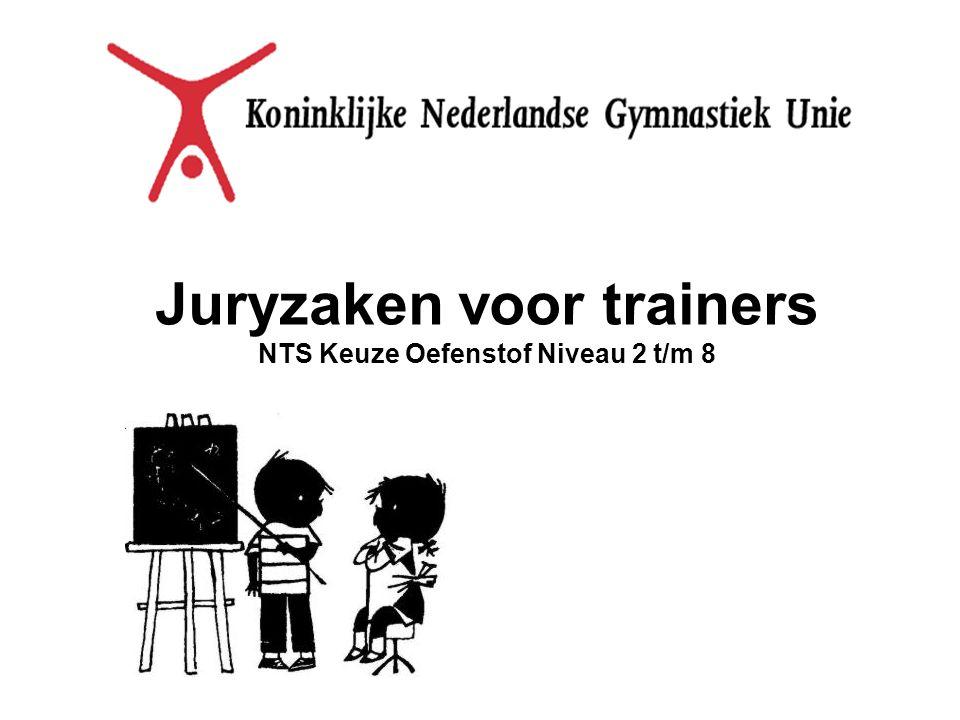 Juryzaken voor trainers NTS Keuze Oefenstof Niveau 2 t/m 8