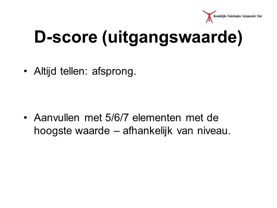 D-score (uitgangswaarde)