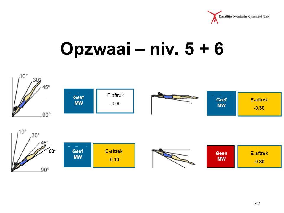 Opzwaai – niv. 5 + 6 E-aftrek -0.00 Geef MW Geef MW E-aftrek -0.30