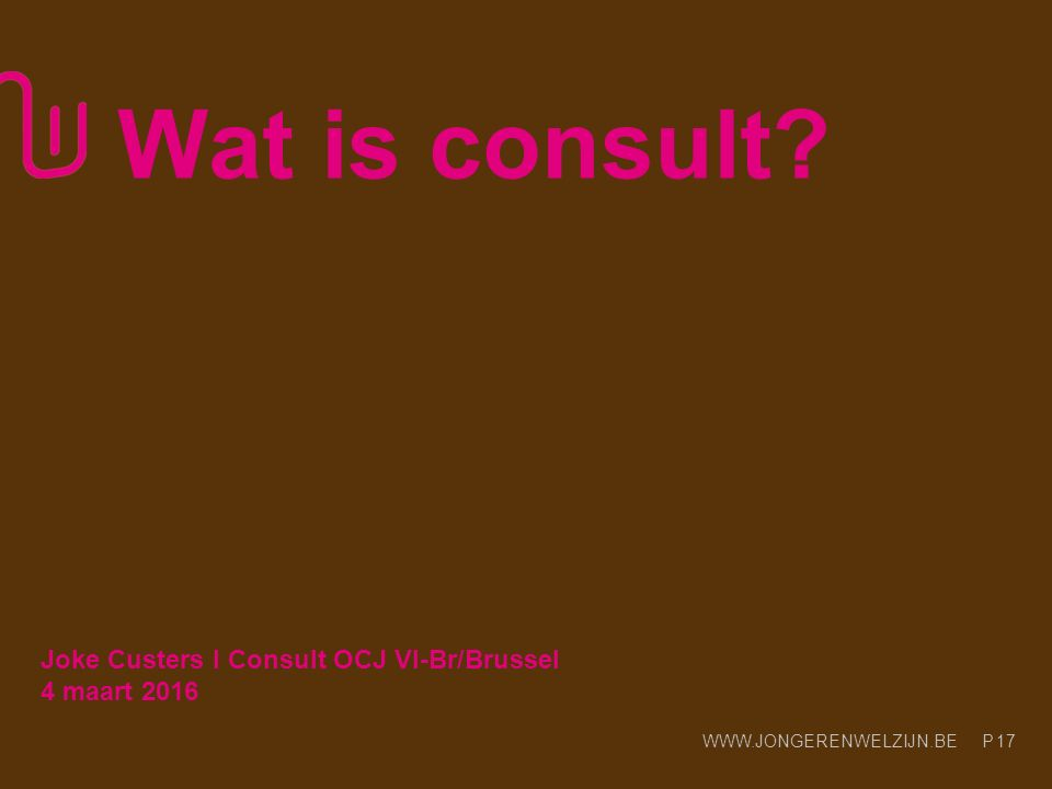 Wat is consult Joke Custers l Consult OCJ Vl-Br/Brussel 4 maart 2016