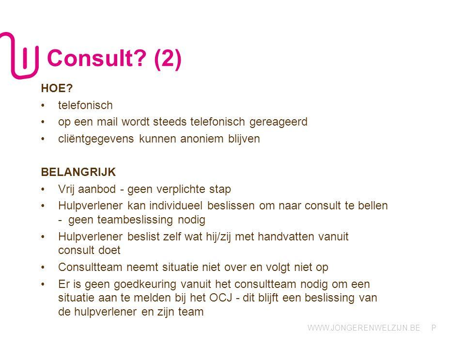 Consult (2) HOE telefonisch