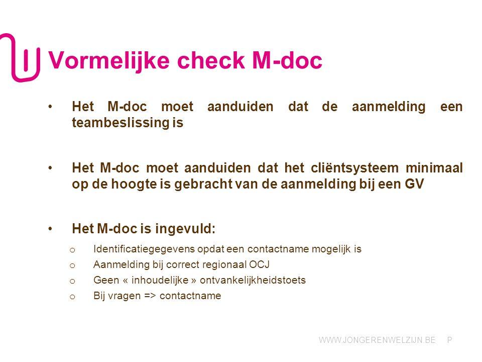 Vormelijke check M-doc