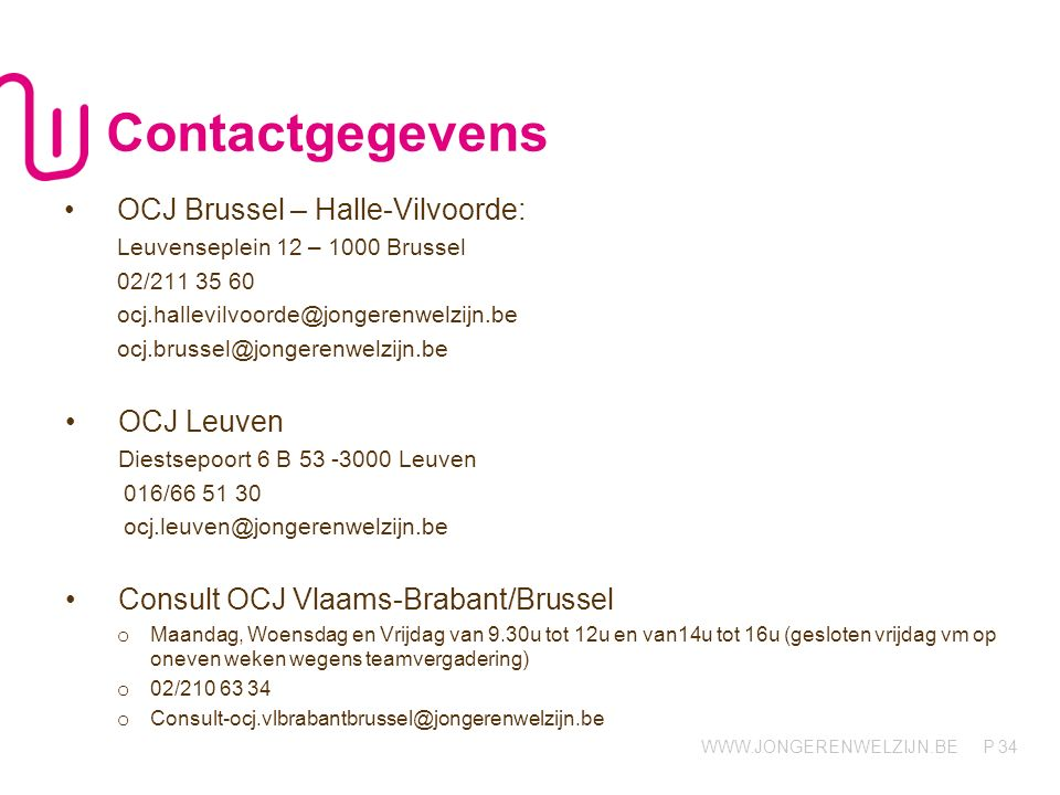 Contactgegevens OCJ Brussel – Halle-Vilvoorde: OCJ Leuven