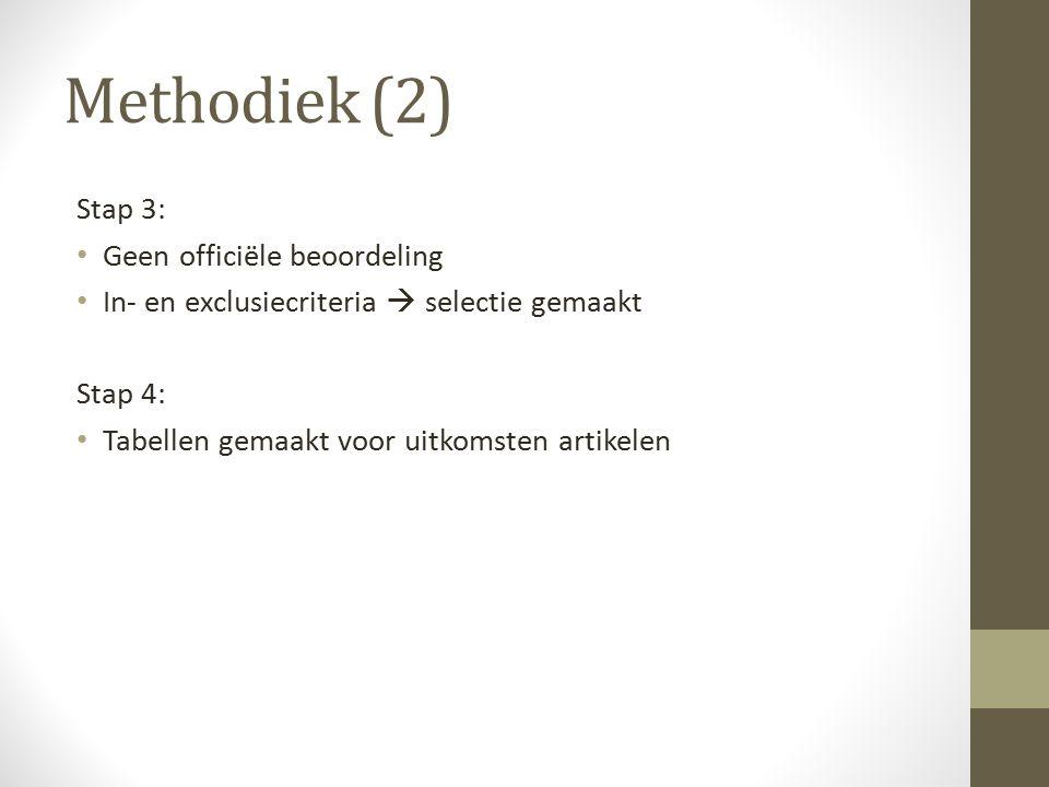 Methodiek (2) Stap 3: Geen officiële beoordeling
