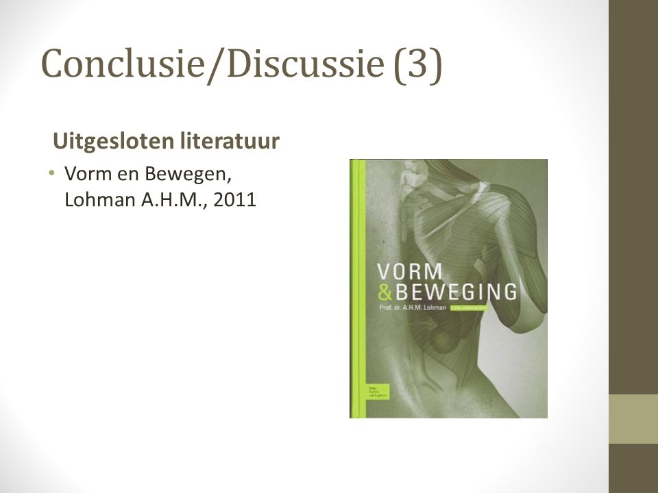 Conclusie/Discussie (3)