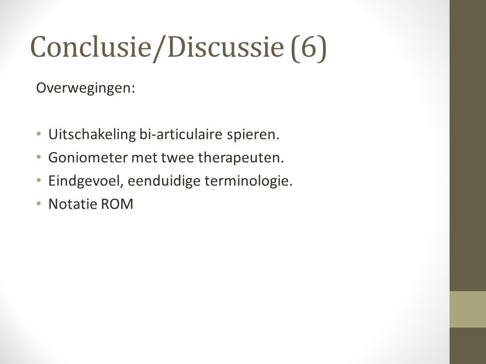 Conclusie/Discussie (6)