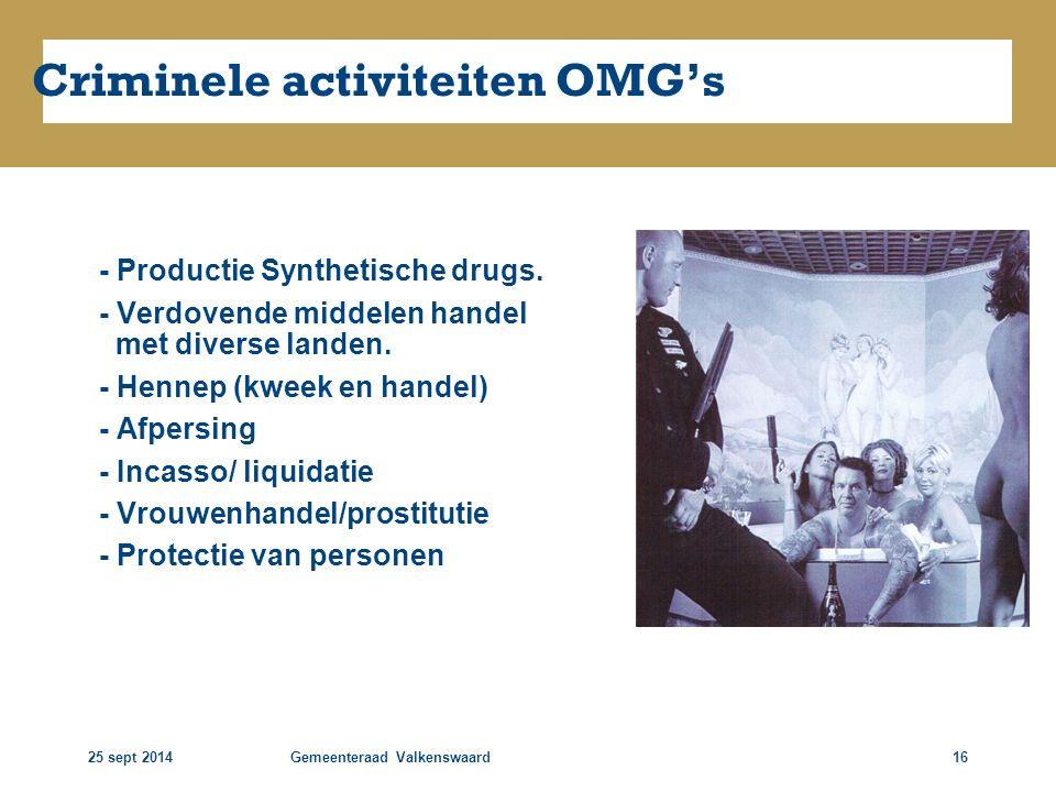 Criminele activiteiten OMG's