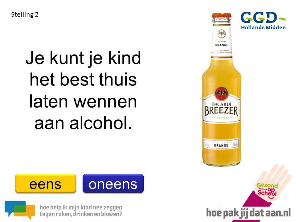 Je kunt je kind het best thuis laten wennen aan alcohol.