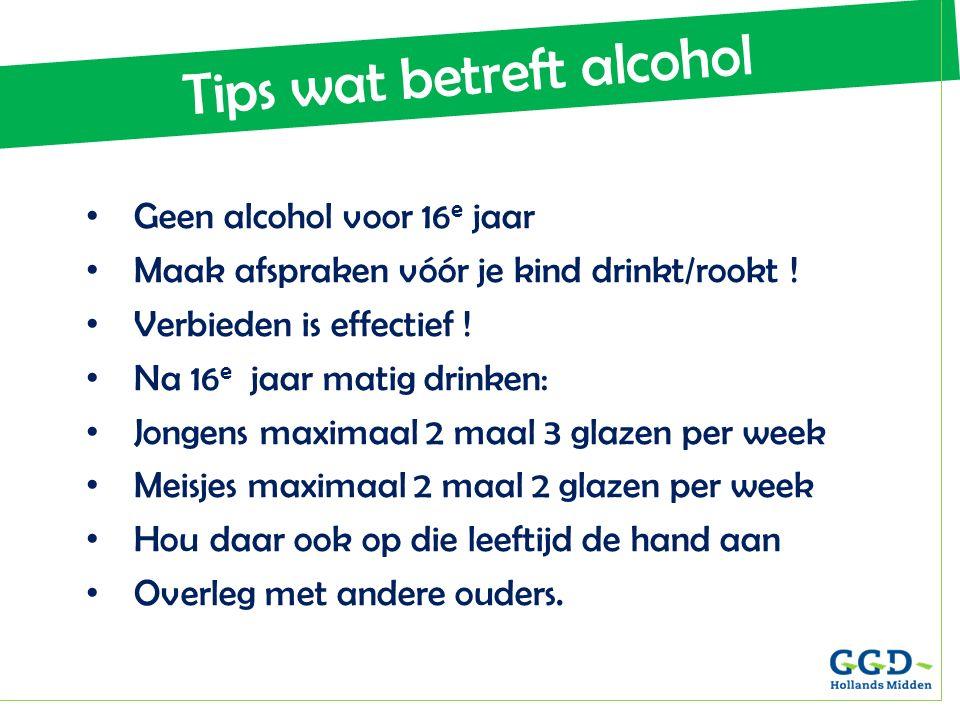 Tips wat betreft alcohol
