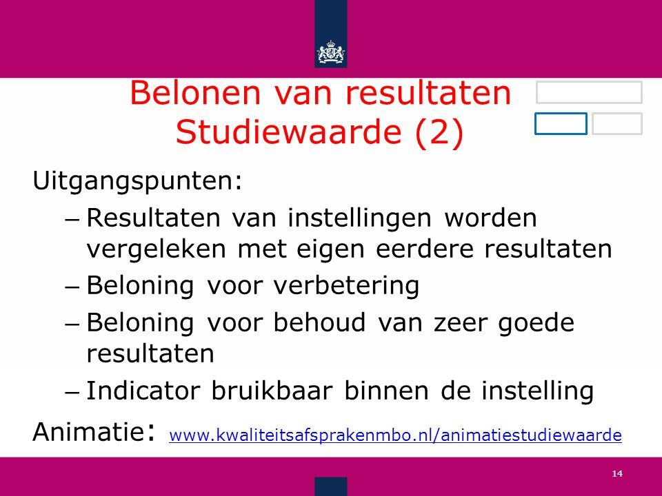 Belonen van resultaten Studiewaarde (2)