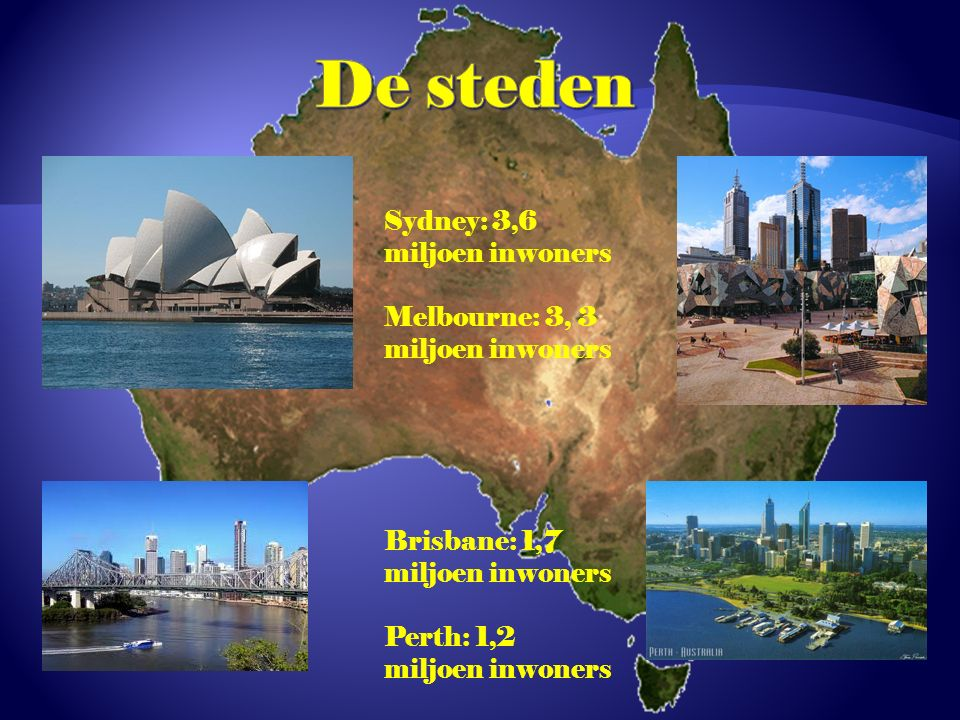 De steden Sydney: 3,6 miljoen inwoners
