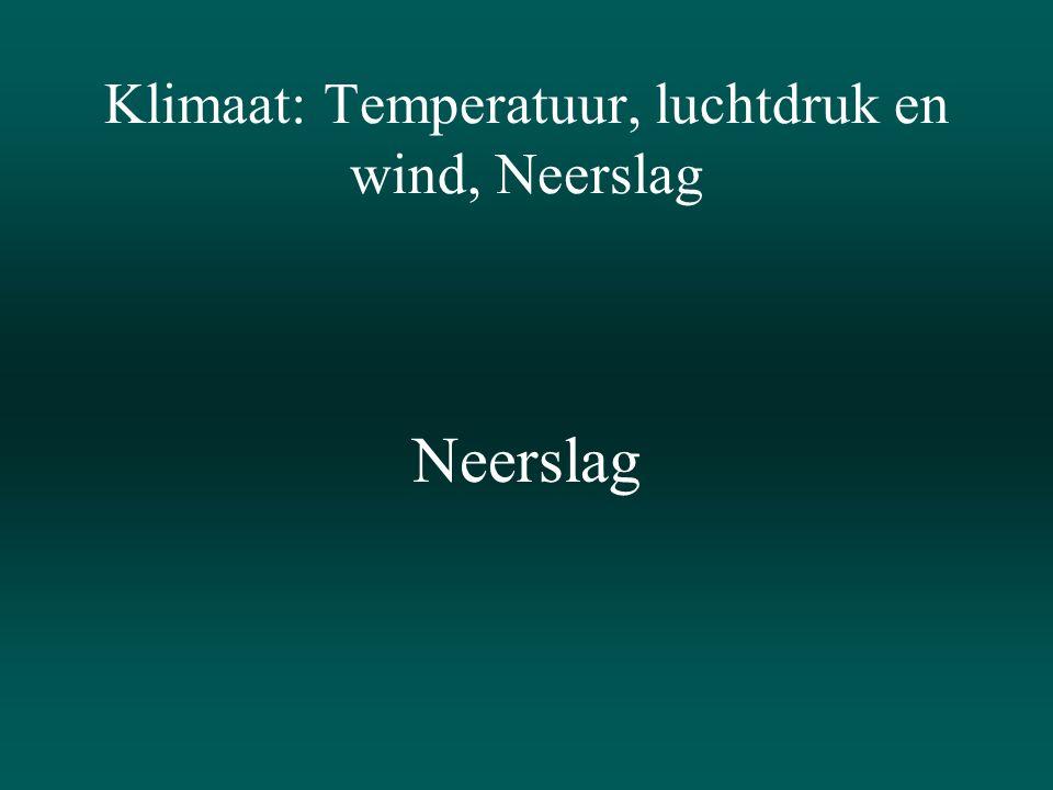 Klimaat: Temperatuur, luchtdruk en wind, Neerslag
