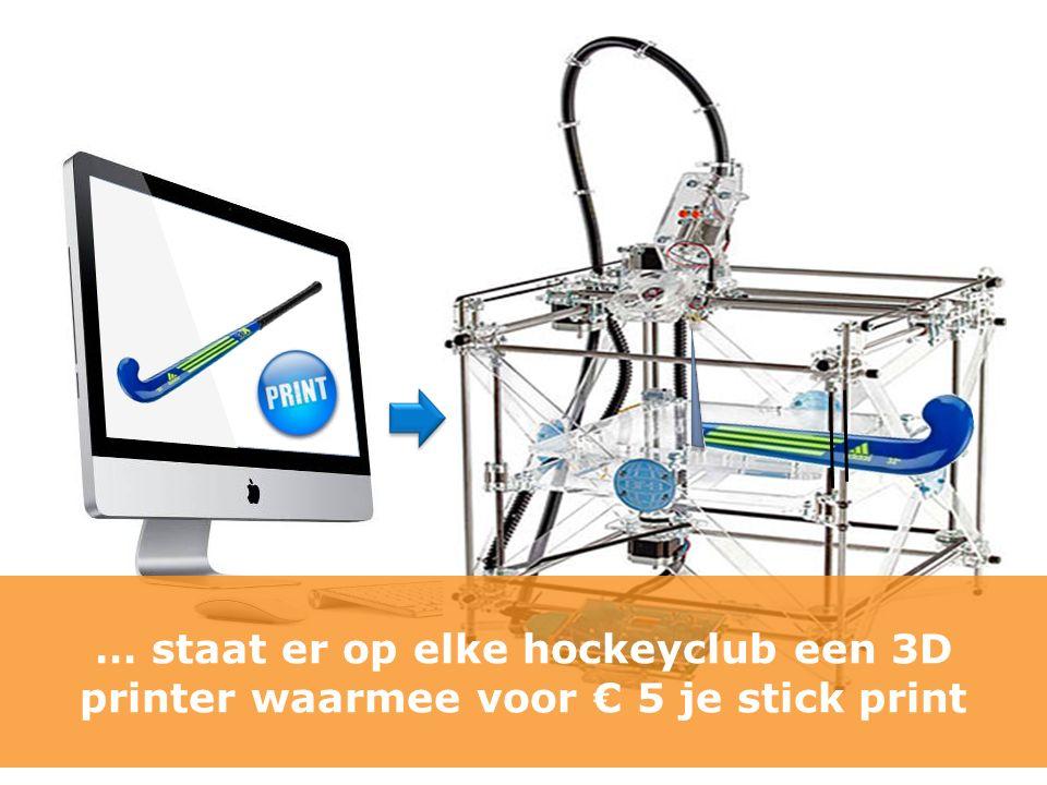 … staat er op elke hockeyclub een 3D printer waarmee voor € 5 je stick print