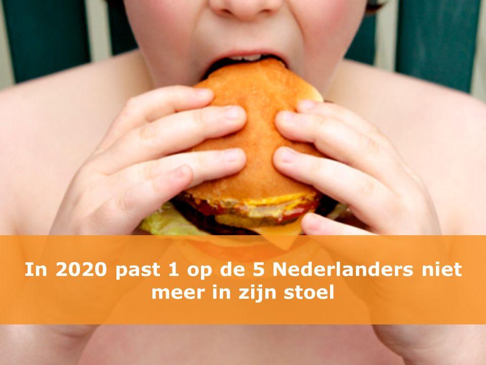 In 2020 past 1 op de 5 Nederlanders niet meer in zijn stoel