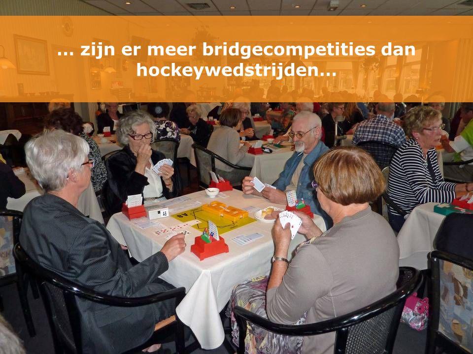 … zijn er meer bridgecompetities dan hockeywedstrijden…