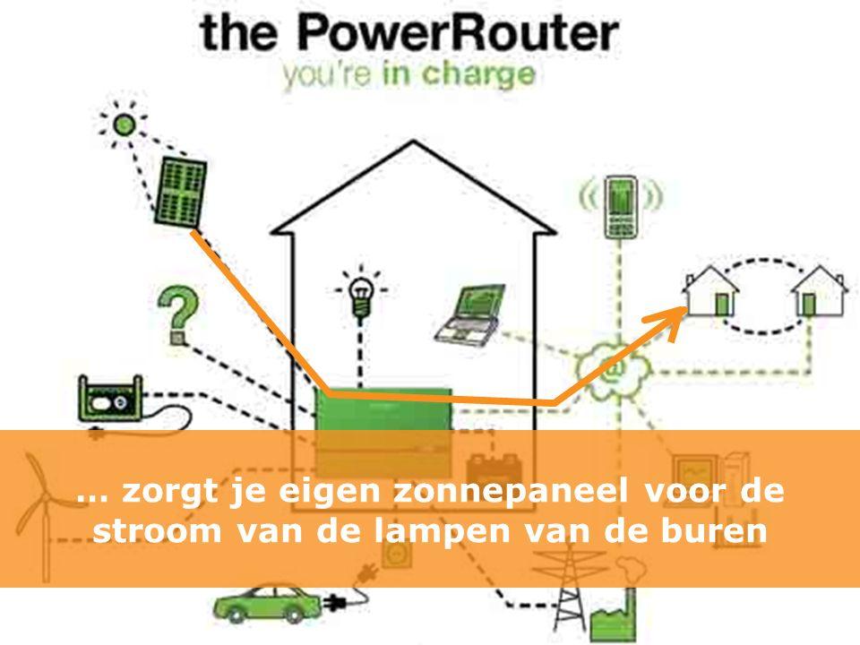 … zorgt je eigen zonnepaneel voor de stroom van de lampen van de buren