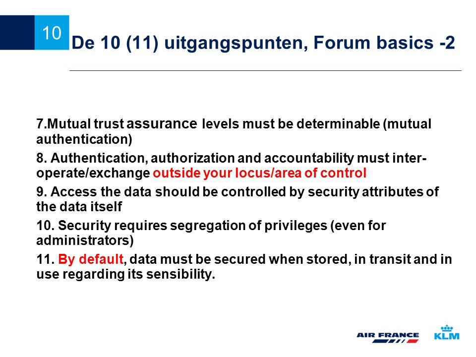 De 10 (11) uitgangspunten, Forum basics -2