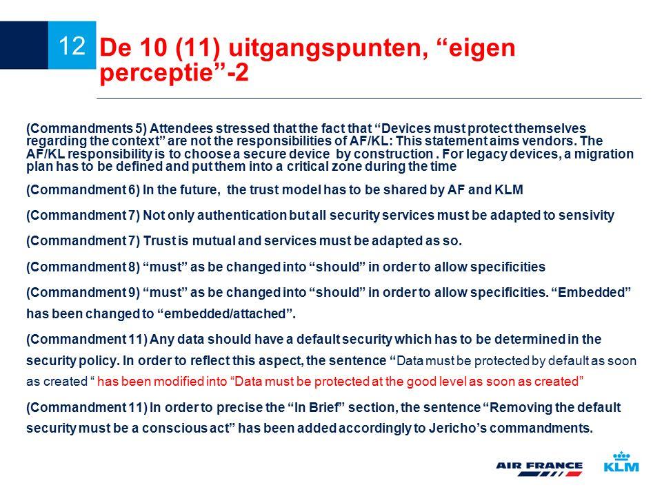 De 10 (11) uitgangspunten, eigen perceptie -2